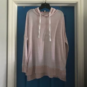 Express one eleven loose cozy light pink hoodie